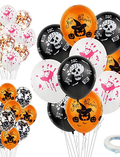 preiswerte Partyzubehör-Halloween / Festival Party Zubehör Ballon Gemustert Emulsion Klassisch / Kreativ / rustikales Theme