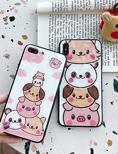 caso para apple iphone xs / iphone xr / iphone xs dustproof / padrão tampa traseira cat / animal / cartoon pc