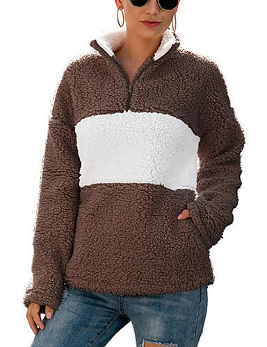 billige Dametopper-Bluse Dame - Ensfarget Kamel