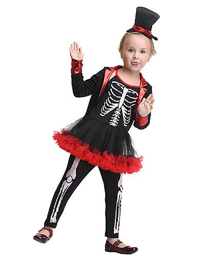 povoljno Maske i kostimi-Gusari Cosplay Nošnje Dječji Djevojčice Halloween Halloween Festival / Praznik Spandex Poliester / poliamid Crn Karneval kostime