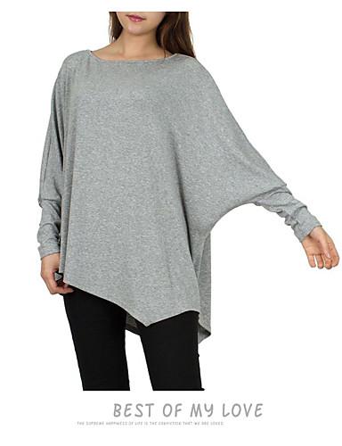 billige T-skjorter til damer-T-skjorte Dame - Ensfarget, Lapper Gatemote / Elegant Svart