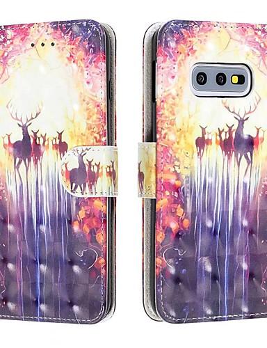 Capinha Para Samsung Galaxy S9 / S9 Plus / Galaxy S10 Carteira / Porta-Cartão / Antichoque Capa Proteção Completa Animal PU Leather