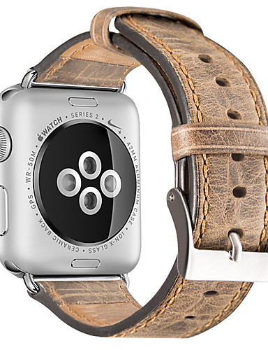 Pulseiras de Relógio para Apple Watch Series 4/3/2/1 Apple Fecho Clássico Couro Legitimo Tira de Pulso