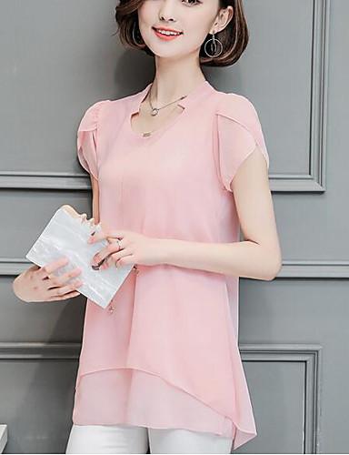 billige Dametopper-T-skjorte Dame - Ensfarget, Drapering Forretning / Grunnleggende Svart