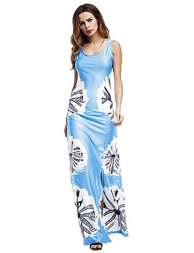 voordelige Maxi-jurken-Dames Trompet / zeemeermin Jurk - Kleurenblok Maxi