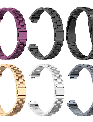 Pulseiras de Relógio para Fitbit Inspire HR / Fitbit Inspire Fitbit Pulseira Esportiva Aço Inoxidável Tira de Pulso