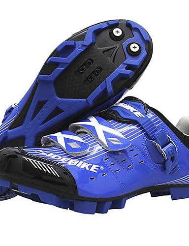 billige Sykling-SIDEBIKE Voksne Sykkelsko Mountain Bike-sko Demping Sykling / Sykkel Blå / Hvit Sykkelsko / ånd bare Blanding