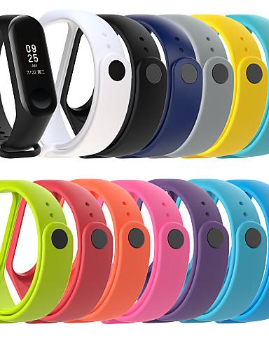 Pulseiras de Relógio para Mi Band 3 / Xiaomi Band 4 Xiaomi Pulseira Esportiva Silicone Tira de Pulso