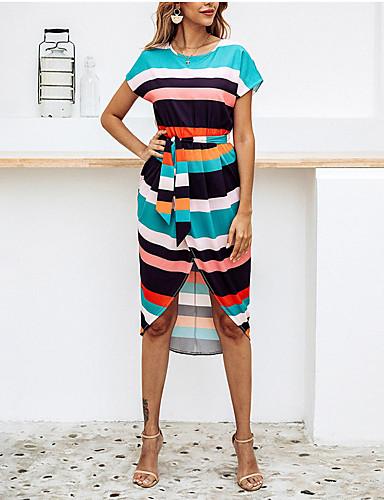 Жен. Классический Элегантный стиль Оболочка Платье - Геометрический принт, С принтом Средней длины