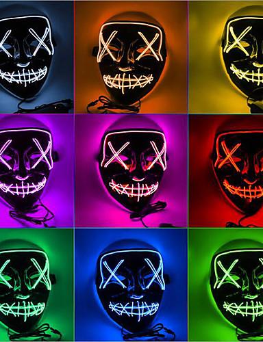 povoljno Maske i kostimi-Ghost Rekviziti za Noć vještica / Turistička Nakit / Maska za maskiranje Boy Užas / Halloween Muškarci Plav / Obala / purpurna boja Plastika Maškare Cosplay pribor Halloween / Karneval / Maškare