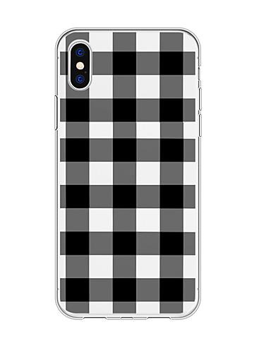 Capinha Para Apple iPhone XS / iPhone XR / iPhone XS Max Estampada Capa traseira Estampa Geométrica / Cores Gradiente TPU