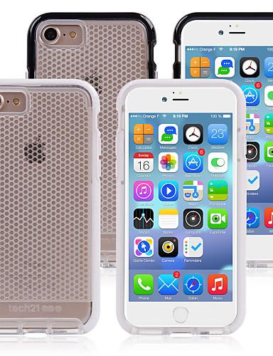 Capinha Para Apple iPhone 8 Plus / iPhone 8 / iPhone 7 Plus Antichoque Capa traseira Linhas / Ondas TPU