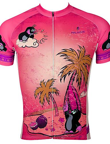 povoljno Odjeća za vožnju biciklom-ILPALADINO Muškarci Kratkih rukava Biciklistička majica purpurna boja Blushing Pink žuta Životinja Crtani film Bicikl Biciklistička majica Majice Brdski biciklizam biciklom na cesti Prozračnost Quick