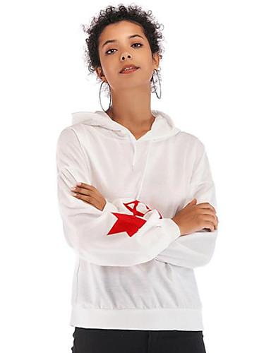billige Dametopper-T-skjorte Dame - Grafisk Svart