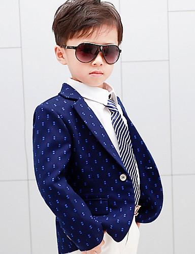 Djeca Dječaci Osnovni Na točkice Dugih rukava Odijelo i sako Plava