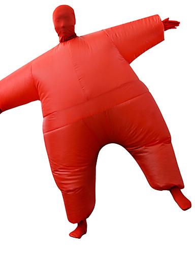 preiswerte Kostüme für Erwachsene-Ringer Cosplay Kostüme Aufblasbare Kostüme Erwachsene Herrn Halloween Halloween Fest / Feiertage Rayon / Polyester Rote Herrn Damen Karneval Kostüme / Gymnastikanzug / Einteiler / Bedienungsanleitung