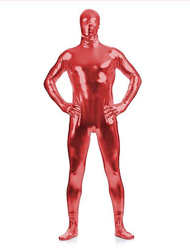povoljno Maske i kostimi-Sjajna zentai odijela Catsuit Odijelo za kožu Ninja Odrasli Spandex Lateks Cosplay Nošnje Spol Muškarci Žene Crn / purpurna boja / Blushing Pink Jednobojni Halloween / Visoka elastičnost