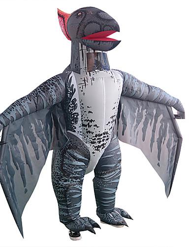 preiswerte Kostüme für Erwachsene-Drachen Ringer Cosplay Kostüme Aufblasbare Kostüme Erwachsene Herrn Halloween Halloween Fest / Feiertage Rayon / Polyester Schwarz Herrn Damen Karneval Kostüme / Gymnastikanzug / Einteiler