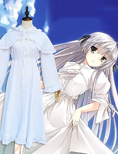 povoljno Maske i kostimi-Inspirirana Yosuga no Sora Kasugano Sora Anime Cosplay nošnje Japanski Cosplay Suits Haljina / Shawl / Šeširi Za Žene