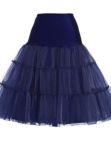 povoljno Maske i kostimi-Balet Classic Lolita 1950-te Haljine Petticoat kratka baletska suknja Krinolina Žene Djevojčice Til Kostim Crn / Siva / Obala Vintage Cosplay Party Seksi blagdanski kostimi Princeza