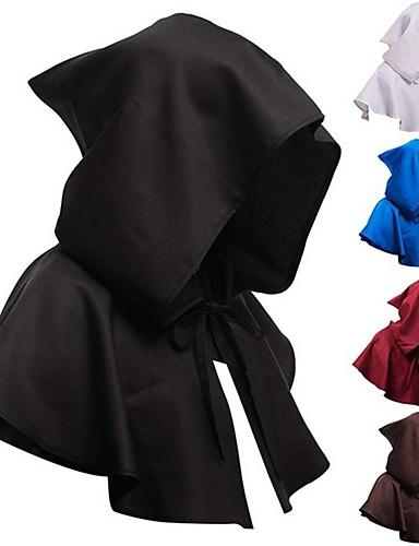 cheap Men's & Women's Halloween Costumes-Priestess Cosplay Costume Cloak Masquerade Adults' Men's Cosplay Halloween Halloween Festival / Holiday Polyster White / Black / Blue Men's Women's Easy Carnival Costumes