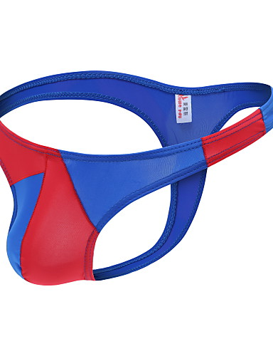 Homens Básico G-string Underwear - Tamanho Europeu / Americano 1 Peça Cintura Baixa Preto Azul Claro Branco S M L