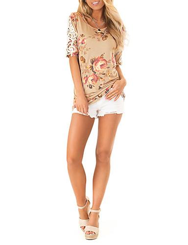 billige Dametopper-T-skjorte Dame - Geometrisk, Blonde Grunnleggende Tusenfryd