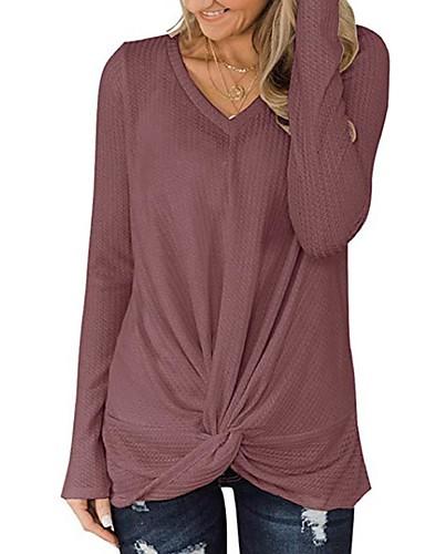 billige T-skjorter til damer-T-skjorte Dame - Ensfarget, Lapper Gatemote Svart / Hvit / Blå Svart