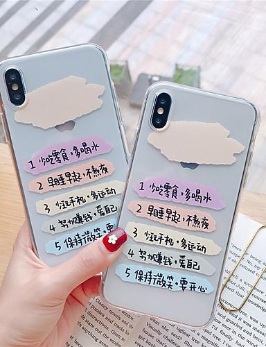 Caso para apple iphone xs / iphone xr / iphone xs max transparente / padrão tampa traseira palavra / frase tpu para iphone x xs 8 mais 8 7 mais 7 6 6 s 6 mais 6 s plus