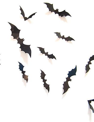 preiswerte Partyzubehör-Plastikaufkleber des Halloween-Schlägers 12pcs festliche Partydekorationen Halloween-Versorgungsmaterialien