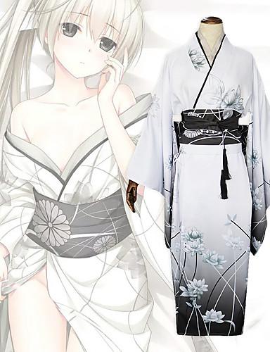 povoljno Maske i kostimi-Inspirirana Yosuga no Sora Kasugano Sora Anime Cosplay nošnje Japanski Cosplay Suits Luk / Kimono Dlaka / Traka / vrpca Za Žene