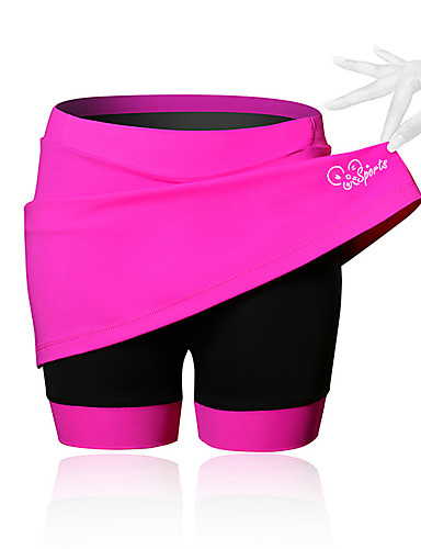 cheap Summer Discount-21Grams Women's Cycling Skirt Bike Shorts / Skirt / Padded Shorts / Chamois Breathable, 3D Pad Solid Colored, Patchwork, Classic Spandex Black / Blue / Pink Advanced Mountain Cycling Semi-Form Fit