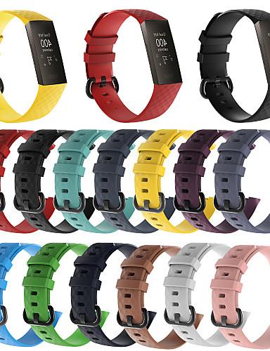 Pulseiras de Relógio para Fitbit Charge 3 Fitbit Pulseira Esportiva Silicone Tira de Pulso