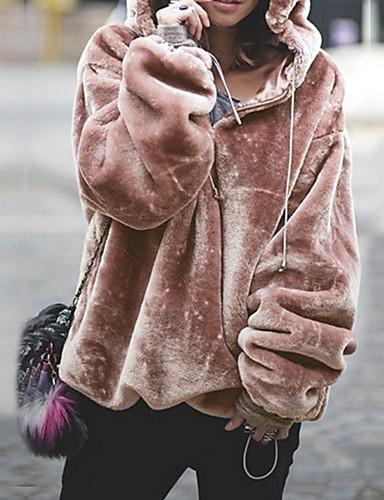 お買い得  レディースフーディー&スウェットシャツ-女性用 カジュアル パーカー - ソリッド