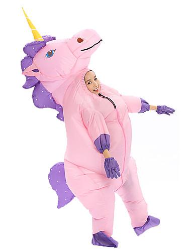 preiswerte Spielzeug & Hobby Artikel-Mehre Kostüme Unicorn Cosplay Kostüme Aufblasbare Kostüme Kinder Jungen Halloween Halloween Fest / Feiertage 100% Polyester Weiß / Purpur / Rosa Karneval Kostüme / Handschuhe / Ventilator