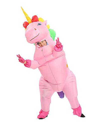 preiswerte Spielzeug & Hobby Artikel-Unicorn Cosplay Kostüme Aufblasbare Kostüme Erwachsene Herrn Halloween Halloween Fest / Feiertage 100% Polyester Weiß / Purpur / Rosa Herrn Damen Paar Karneval Kostüme / Handschuhe / Ventilator