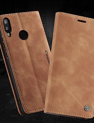 Capinha Para Huawei Honra 10 Lite / Huawei Honor 9 Lite Carteira / Porta-Cartão / Antichoque Capa Proteção Completa Sólido PU Leather