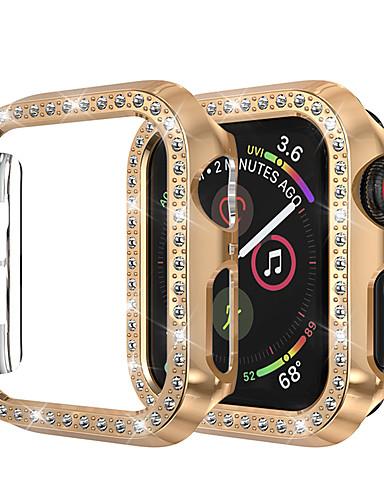 para apple watch iwatch caso 44mm / 40mm / 38mm / 42mm series 4 3 2 1 tampa da caixa iwatch quadro de proteção com diamante de strass bling cristal