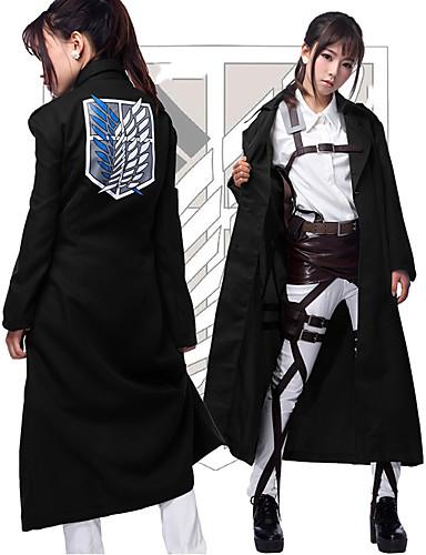 povoljno Anime cosplay-Inspirirana Napad na Titanu Cosplay Anime Cosplay nošnje Japanski Cosplay Tops / Bottoms Kaput Za Muškarci / Žene