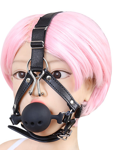 cheap Sexy Costumes-Men's Women's Fifty Shades Sexy Lady Adults' Sex Toy Harness Mask Ball Gag Mask / leatherette