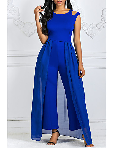 preiswerte Damenbekleidung Ausverkauf-Damen Party Büro Lose Lose Kleid Solide Maxi
