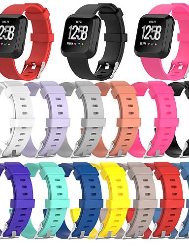 Pulseiras de Relógio para Fitbit Versa / Fitbit Versa Lite Fitbit Pulseira Esportiva Silicone Tira de Pulso