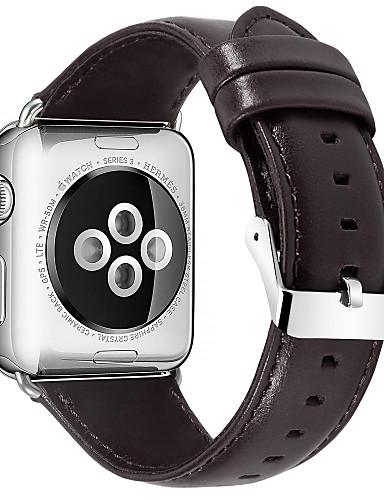 Pulseiras de Relógio para Apple Watch Series 5/4/3/2/1 / Apple Watch Series 4 Apple Pulseira de Couro Couro Legitimo Tira de Pulso