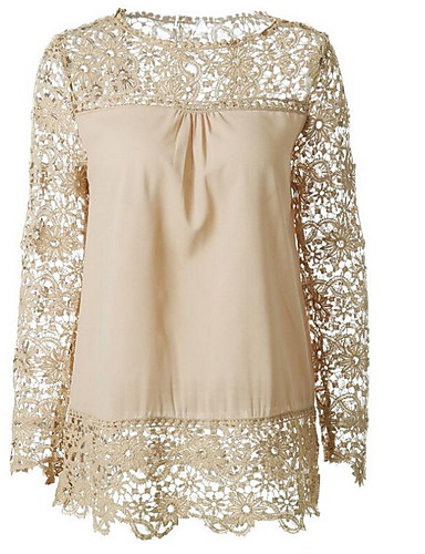billige Dametopper-Skjorte Dame - Ensfarget, Blonde Grunnleggende Svart