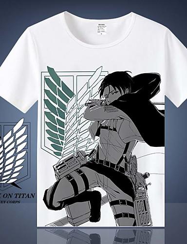 povoljno Anime cosplay-Inspirirana Napad na Titanu Cosplay Anime Cosplay nošnje Japanski Cosplay majica T-majica Za Muškarci / Žene