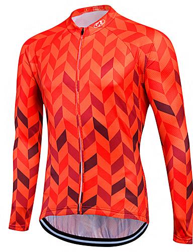 povoljno Biciklističke majice-Fastcute Muškarci Žene Dugih rukava Biciklistička majica Skin Red purpurna boja žuta Veći konfekcijski brojevi Bicikl Sportska majica Biciklistička majica Majice Brdski biciklizam biciklom na cesti