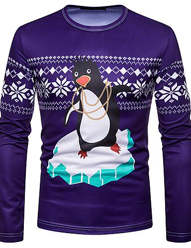 preiswerte Weihnachten-Herrn Grafik T-shirt Regenbogen