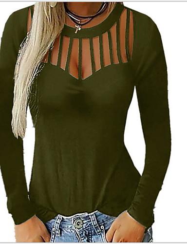 billige T-skjorter til damer-Løstsittende T-skjorte Dame - Ensfarget Svart
