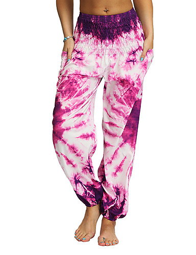 povoljno Odjeća za fitness, trčanje i jogu-Žene Harem hlače Hlače za jogu Kravata Trčanje Fitness Trening u teretani Donji Odjeća za rekreaciju Prozračnost Ovlaživanje Quick dry Rastezljivo