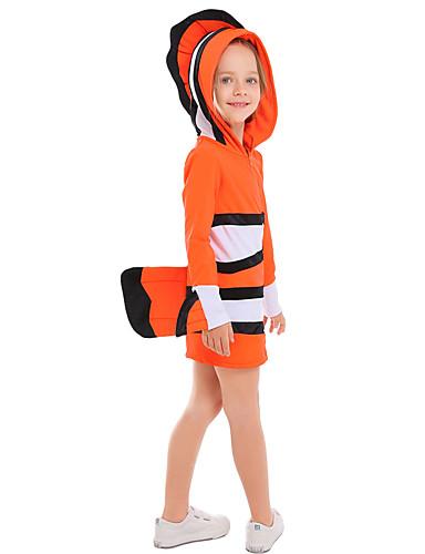 preiswerte Spielzeug & Hobby Artikel-Fische Haloween Figuren Kinder Jungen Halloween Halloween Fest / Feiertage Gestrickt Orange Karneval Kostüme / Kapuzenshirt